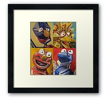 sesame street abstract Framed Print