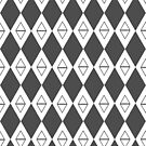 Argyle - Black and White by Cynthia Meade