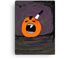 """ psychotic break Pumpkin Carving""  Halloween  Canvas Print"