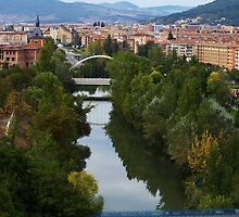 Arga River Across Pamplona by photoshot44