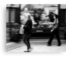 Fast Moving Shoppers  Canvas Print