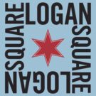 Logan Square Neighborhood Tee by Chicago Tee