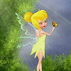 Fairy with butterfly by Lorraine Smith