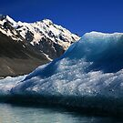 Ice Glacier at mt.cook by arthit somsakul