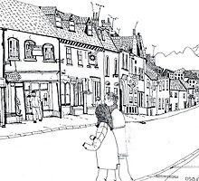 'North Street Shops' Pen & Ink by doatley