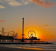 Historic Pleasure Pier in Galveston, Texas by lisapowell