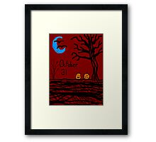 Halloween jack o lantern October 31  Framed Print