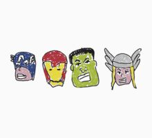 Avengers In Crayon by Paulychilds