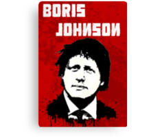 Boris Johnson / Che Guevara Black Hair Canvas Print