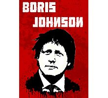 Boris Johnson / Che Guevara Black Hair Photographic Print