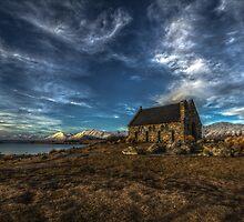 Lake Tekapo Church by Russell Charters