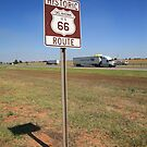 Route 66 - Oklahoma Shield by Frank Romeo