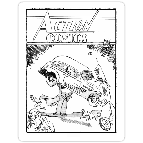 Pengiun Action comics by hermies