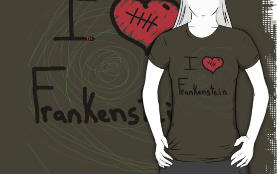 i love Frankenstein halloween   by tia knight