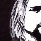 Kurt Cobain - Portrait in India Ink by Guy Hoffman by Guy Hoffman (aka creative365)