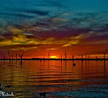 Lake Mulwala sunset by Kat36