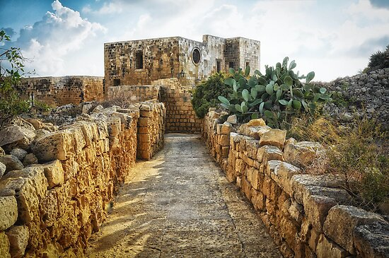 The Citadella in Victoria, capital of the island Gozo, Malta by Wendy  Rauw