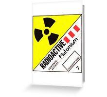 Plutonium Greeting Card