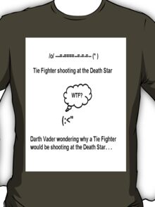 Darth Vader and the Tie Fighter T-Shirt