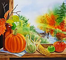 Pumpkin on The Window by Irina Sztukowski
