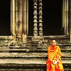 Monk at Angkor by kyh87