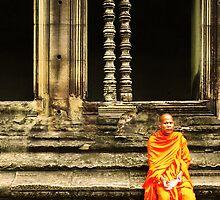 Monk at Angkor by kyh87