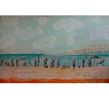 White Rock, Mixed media on board Photographic Print