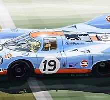 Porsche 917 K Gulf Le Mans 1971 by Yuriy Shevchuk