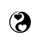 Yin and Yang black white heart 1 by Marvin Hayes