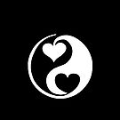 Yin and Yang blk wht heart invert by Marvin Hayes