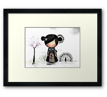 patchwork kimono Framed Print
