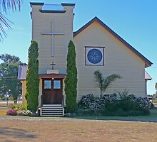 Holy Trinity Lutheran Church, Nobby, Qld, Australia by Margaret  Hyde