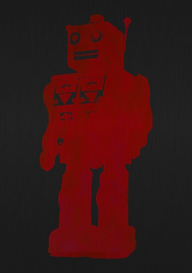 dark red robot by Emma Harckham