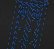 Police box outline by puppaluppa
