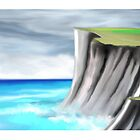 cliff edge painting by basukshitiz