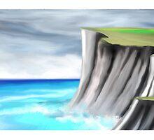 cliff edge painting by basukshitiz