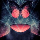 Beautiful Symmetry Surreal Butterfly by barrettbiggers