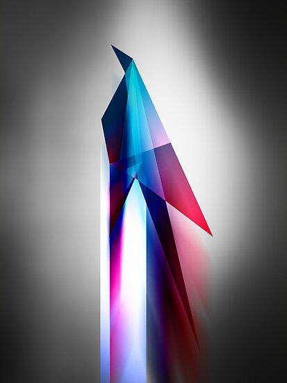 Origami Bird Vector Art Poster by barrettbiggers