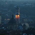 Dusk over Lviv by Oleksii Rybakov