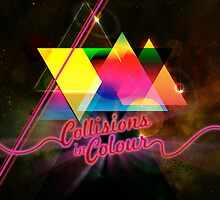 Collissions in Color Art Poster by barrettbiggers