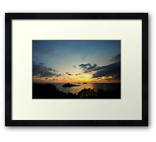Scenic view during sunset Framed Print