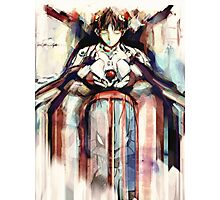 Shinji Evangelion Anime Tra Digital Painting  Photographic Print
