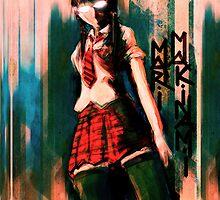 Mari Makinami Evangelion Anime Tra Digital Painting  by barrettbiggers