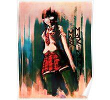 Mari Makinami Evangelion Anime Tra Digital Painting  Poster