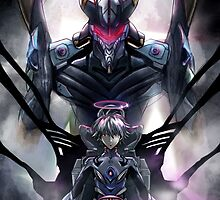 Kawrou Evangelion Anime Tra Digital Painting  by barrettbiggers