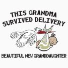 "New Granddaughter ""This New Grandma Survived Delivery..."" by FamilyT-Shirts"