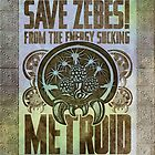 Metroid Propaganda Geek Line Artly  by barrettbiggers