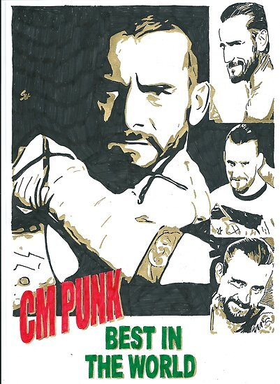 WWE CM Punk Best In The World Design by chrisjh2210