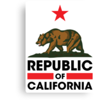 Republic of California Canvas Print