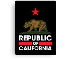 Republic of California - Dark Canvas Print